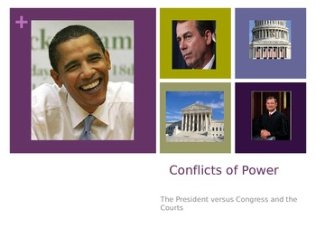 Conflicts Between Congress and the President Power Point