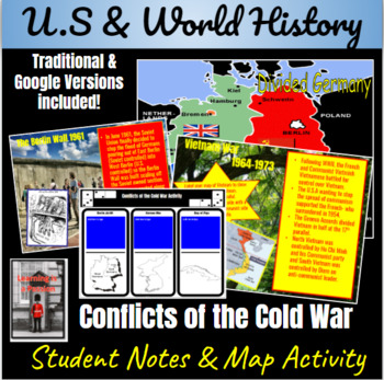 Conflicts of the Cold War ~ A Power-point & Map Activity ~