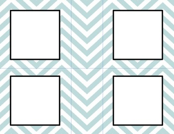 Conflower Blue Chevron Classroom Labels and Tags