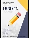 Conformity: Argumentative Essay - English Language Arts