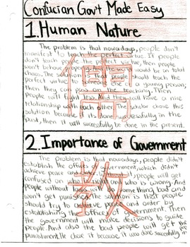 Confucian Gov't Made Easy; Common Core Approach to Practic