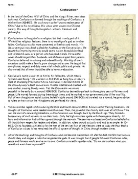 Confucianism - Grade 6