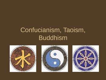Confucianism, Taoism, Buddhism