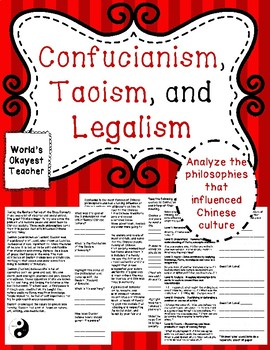 Confucianism, Taoism, and Legalism
