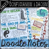 Confucianism and Daoism Doodle Notes and Digital Guided Notes