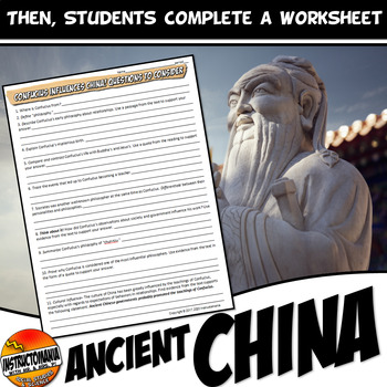 Confucius A Common Core Writing,Literacy and Instagram Activity
