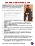 Confucius' Analects Primary Source Analysis Worksheet