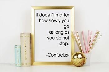 Confucius Quote - Printable Poster 8x10