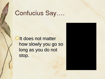"""Confucius Say"" PowerPoint Lesson Plan"