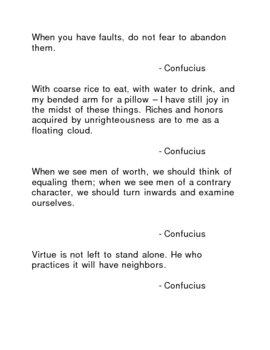 Confucius Says...
