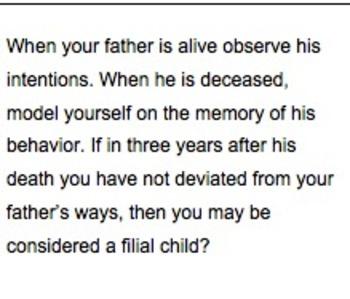 Confucius Says...Worksheet