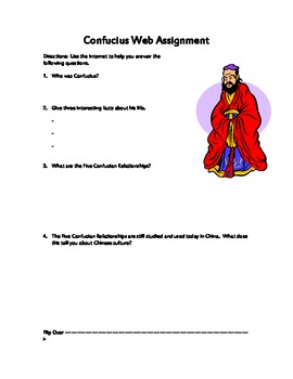 Confucius Web Activity