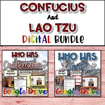 Confucius and Lao Tzu Bundle {Digital}