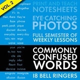 Homophones, Confused Words #2, Bell-Ringer Slides + Note-Keeping Sheets CCSS