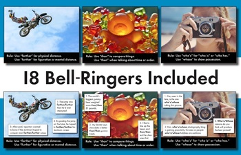Homophones, Confused Words #1, Bell-Ringer Slides + Note-Keeping Sheets CCSS