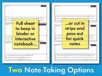 Commonly Confused Words #1, Homophones, Slides + Note-Keeping Sheets CCSS