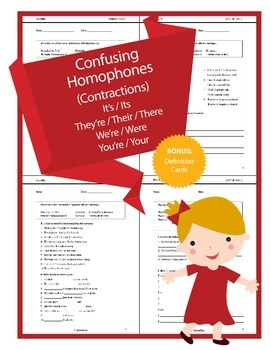 Confusing Homophones (Contractions) - It's, They're, We're, You're