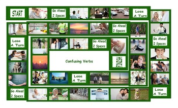 Confusing Verbs Legal Size Photo Board Game