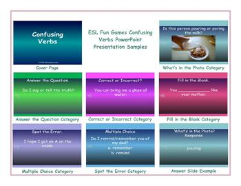 Confusing Verbs PowerPoint Presentation