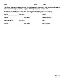 Confusing Verbs Worksheet Bundle