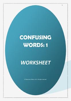 Confusing Words:1 Worksheet