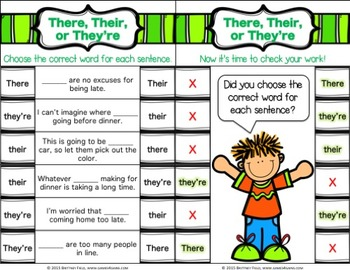 Confusing Words Activity: 24 Confusing Words Task Cards (Clip and Flip)
