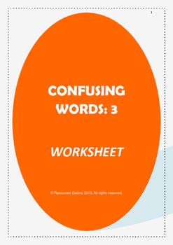 Confusing Words:3 Worksheet