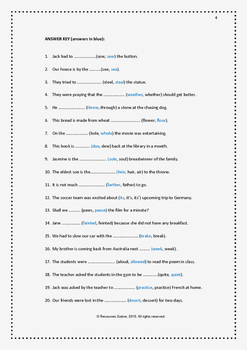 Confusing Words:5 Worksheet