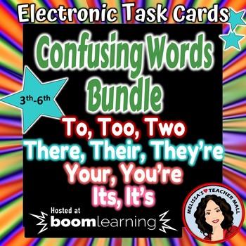 Confusing Words Boom Cards Digital Task Cards Bundle