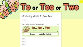 Confusing Words Google Classroom Digital Activities Bundle