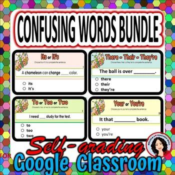 Confusing Words Google Classroom Digital Activities Bundle
