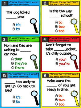 Confusing Words Task Cards
