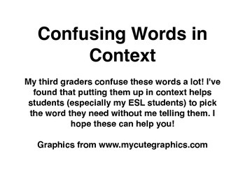 Confusing Words in Context (aka words that sound/look the same!)