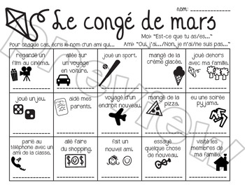 Conge de mars Activity Bundle!