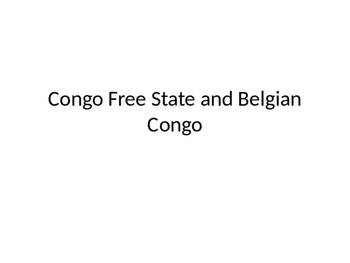 Congo Free State and Belgian Congo