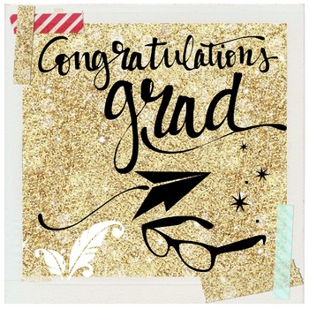 """Congrats Grad"" - Graphic file for blog, newsletter, yearbook, etc."