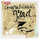 """""""Congrats Grad"""" - Graphic file for blog, newsletter, yearb"""