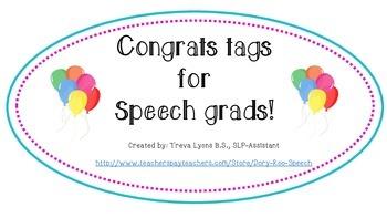 Congrats Tags for Speech Grads! {Freebie}