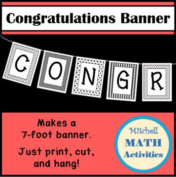Congratulations Banner (Black & White)