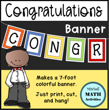 Congratulations Banner (Multi-Color Patterns)
