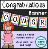 Congratulations Banner (Rainbow Colors)