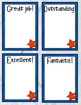 Congratulation Cards: Fun Stars for Graduation - Teachers - End-of-Year Rewards!