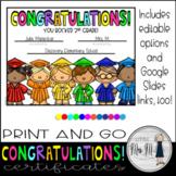 Congratulations! End Of Year 2nd Grade Certificates *DISTA