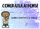 Congratulations Excellent Performance in Science