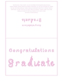 Congratulations Graduate 7x5 card printable sheet with lilac fabric letters
