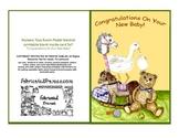 Congratulations New Baby Nursery Toys Baby Room Art Card p