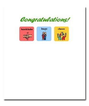 Congratulations Note Card - Made with Picture Symbols