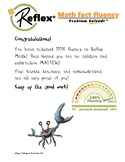 Congratulatory letter for 100% fluency on Reflex Math Addi