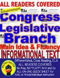 Congress Legislative Branch CLOSE READING 5 LEVEL COMPREHENSION PASSAGES