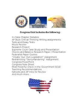 Congress & Legislative Branch Bundled Unit